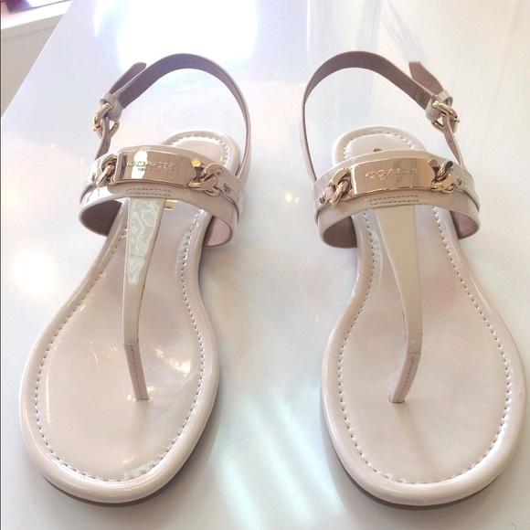 Coach Shoes | Coach Off White Thong